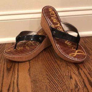 Sam Edelman platform sandals black